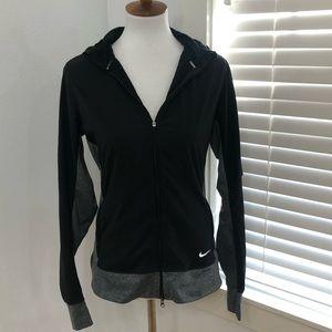 Nike Dri Fit Wimens black and grey jacket